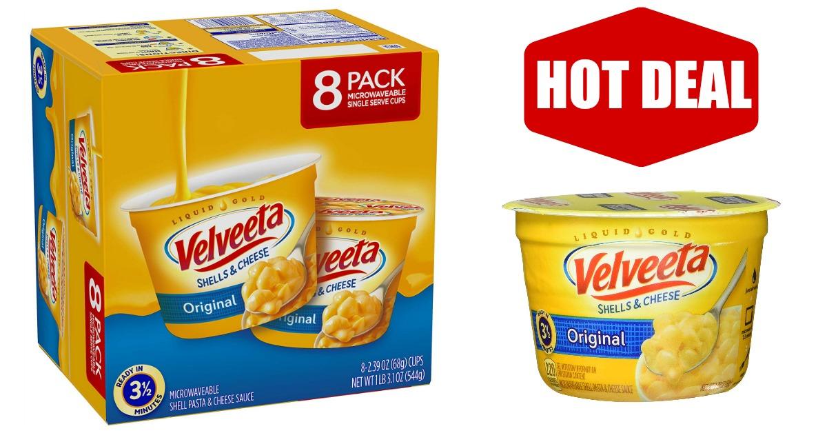Velveeta Shells & Cheese Pasta Cups on Amazon