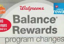 Balance Rewards Points Program Changes at Walgreens 2019