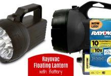 RAYOVAC Value Bright 85-Lumen 6V 10-LED Floating Lantern with Battery on Amazon