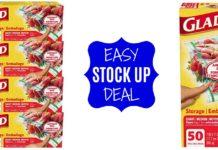 Glad Zipper Food Storage Plastic Bags - Quart - 200 Count DEAL on Amazon