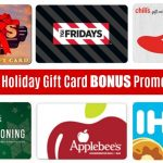 2018 Holiday gift card bonus promotions