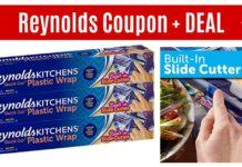 Reynolds coupon plastic wrap on Amazon