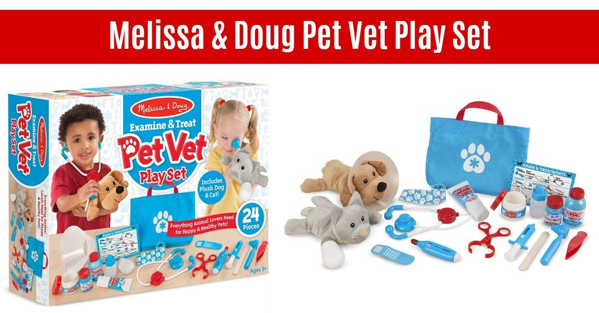 Melissa & Doug Examine and Treat Pet Vet Play Set on Amazon