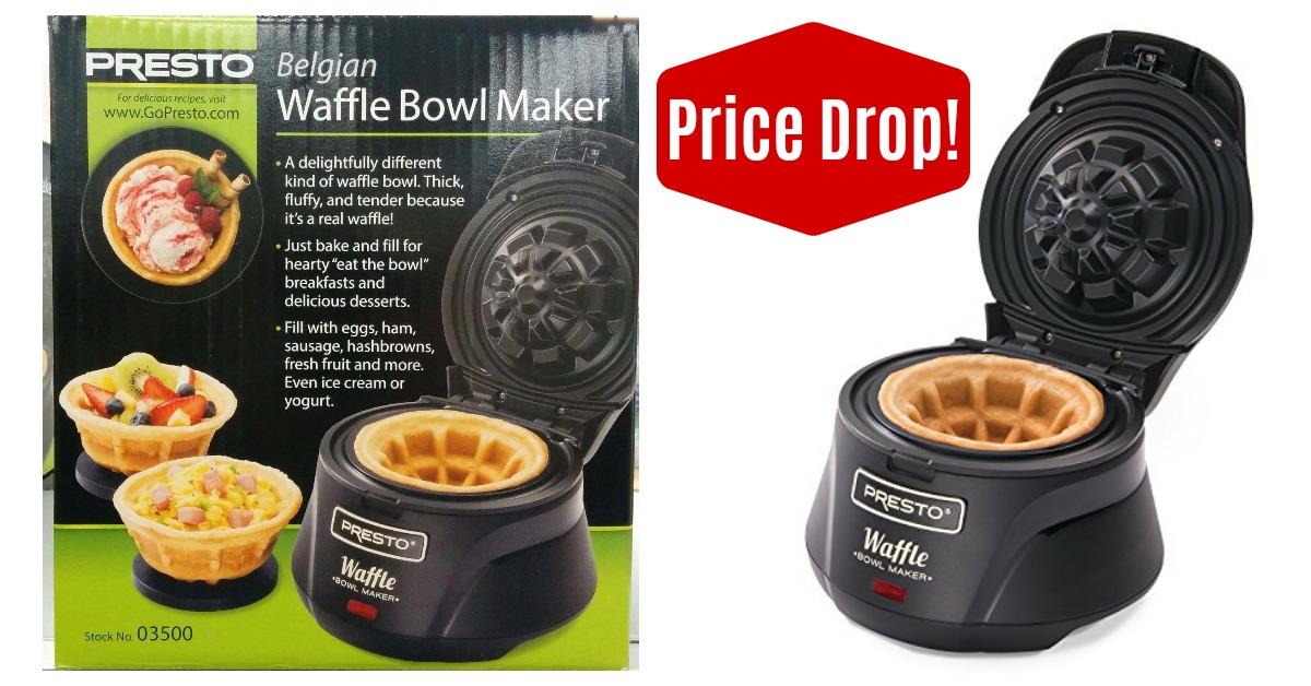 Presto 03500 Belgian Waffle Bowl Maker on Amazon