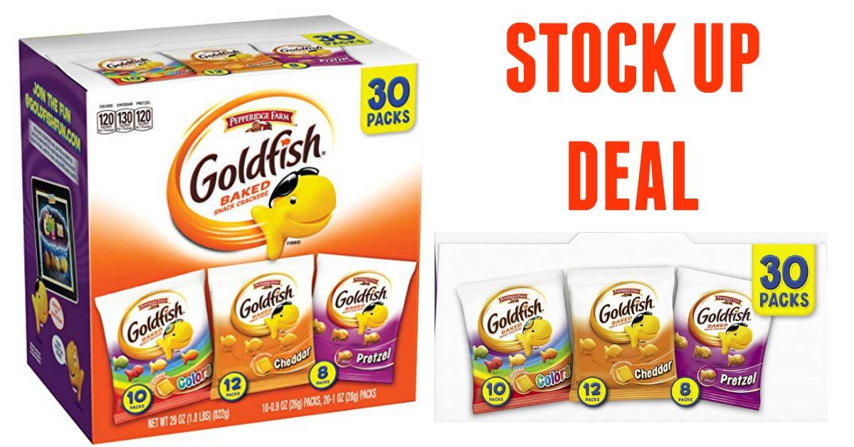 image about Goldfish Printable Coupons identify Pepperidge Farm Goldfish Crackers (Fresh new Coupon Bundle!)