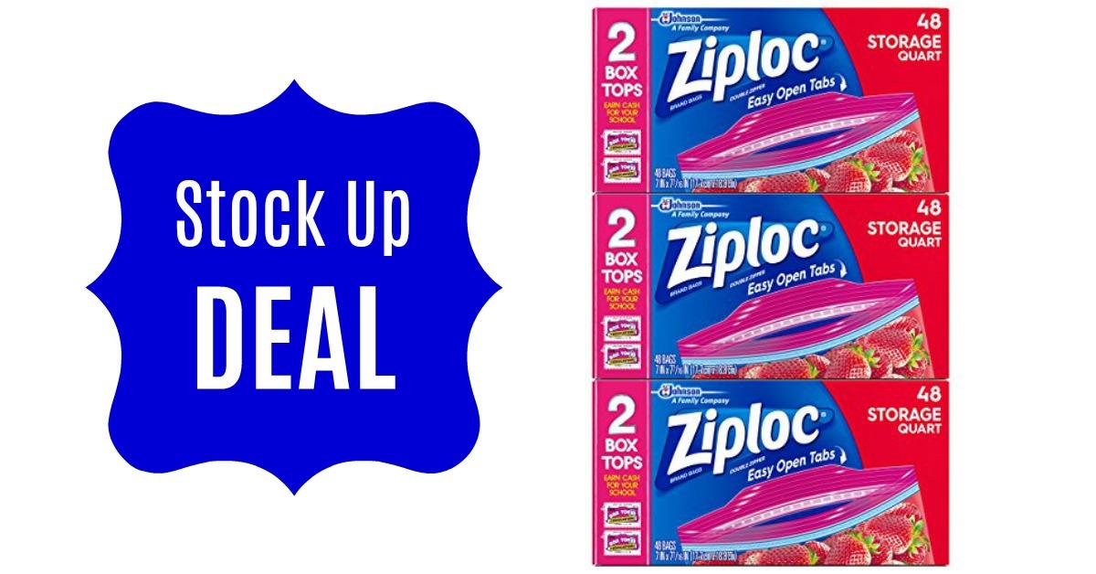 Ziploc Quart Storage Bags 144 Count Deal Hot Coupon World