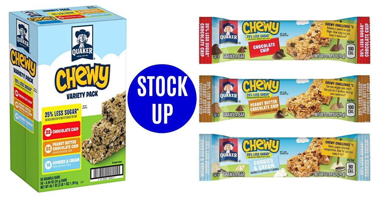 Quaker Chewy Granola Bars on Amazon