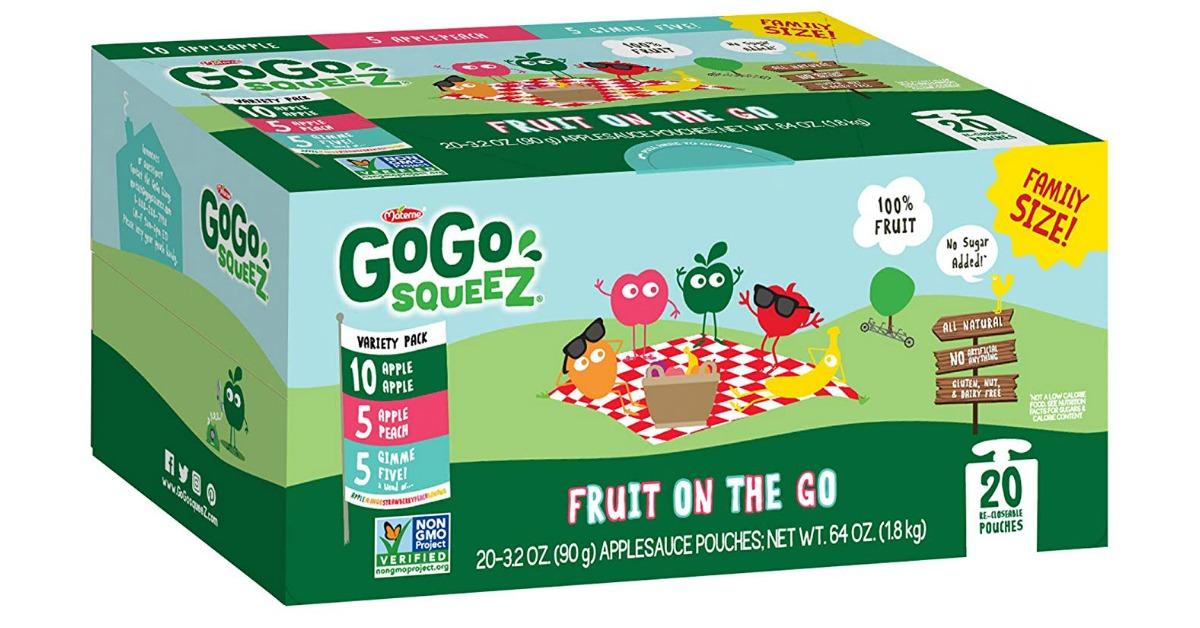 GoGo squeeZ Applesauce Pouches Coupon Deal on Amazon