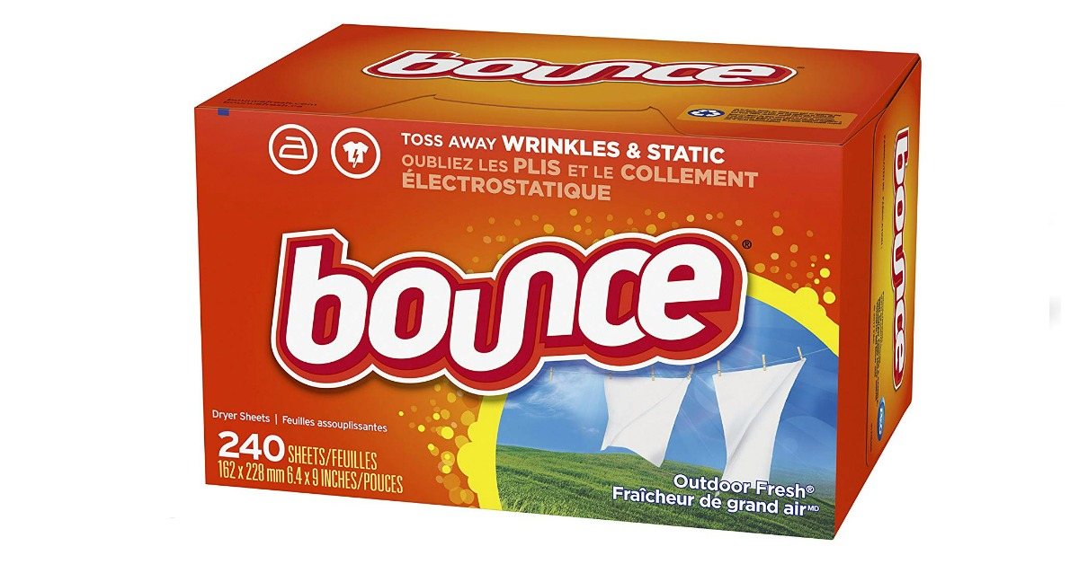 Bounce Fabric Softener and Dryer Sheets, Outdoor Fresh, 240 Count on Amazon