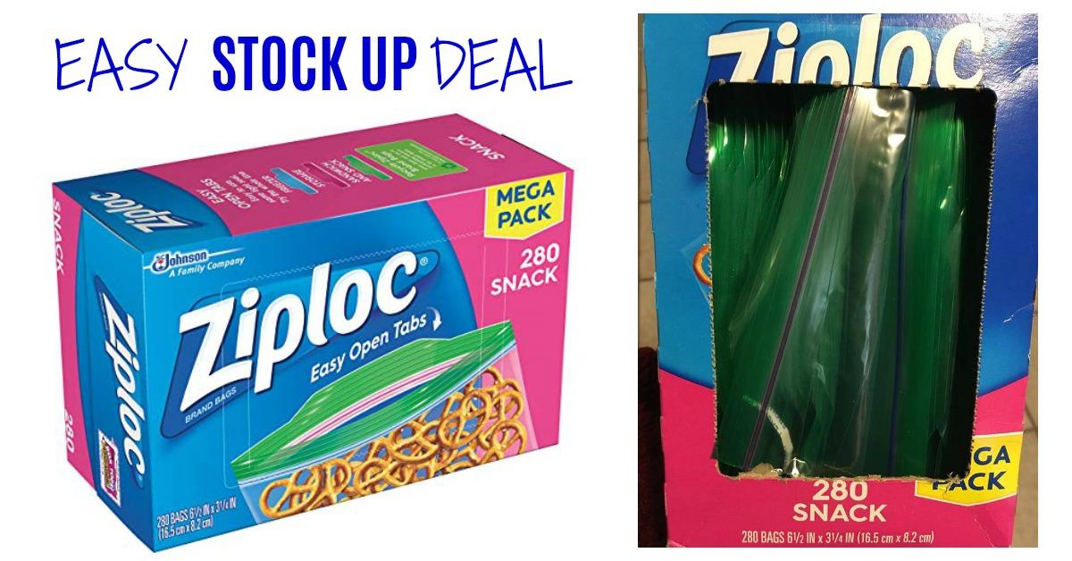 Ziploc Snack Bags, 280 Count on Amazon