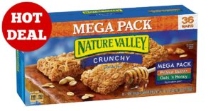 Nature Valley Granola Bars, Crunchy, Mega Pack of Peanut Butter and Oats 'n Honey on Amazon
