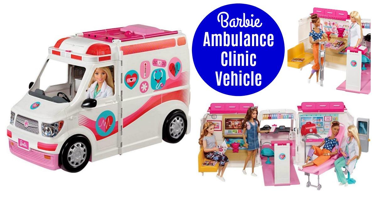 Barbie Ambulance Care Clinic Vehicle Deal on Amazon