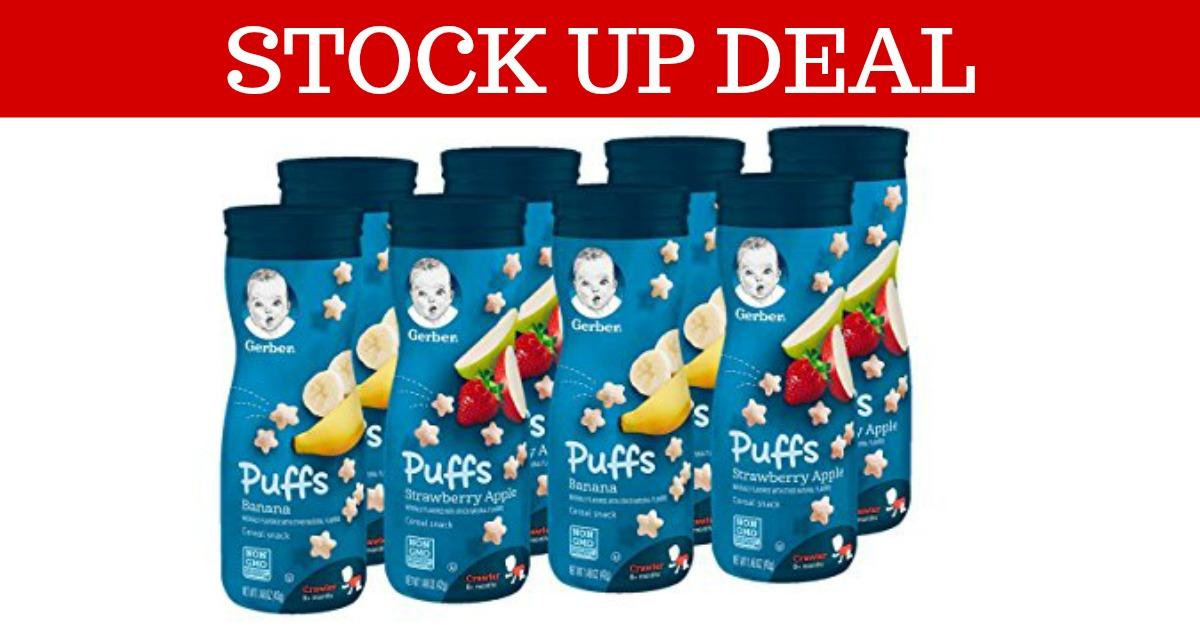 Gerber Graduates Puffs Cereal Snacks on Amazon