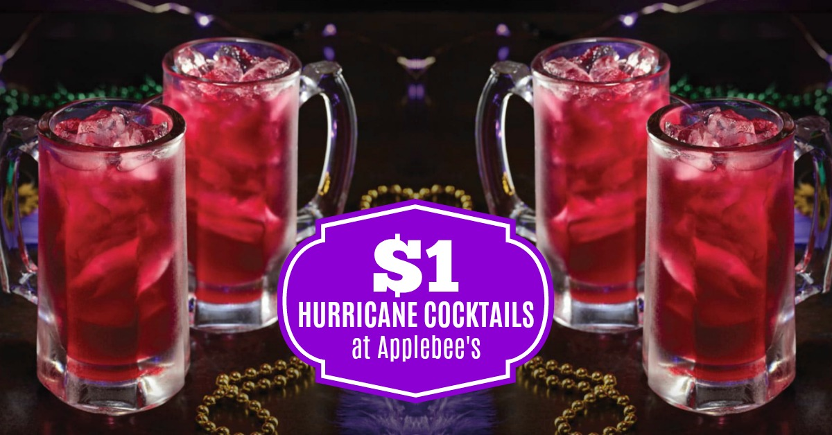 Drink of the Month Applebee's Drink Specials: $1 Hurricane Cocktail