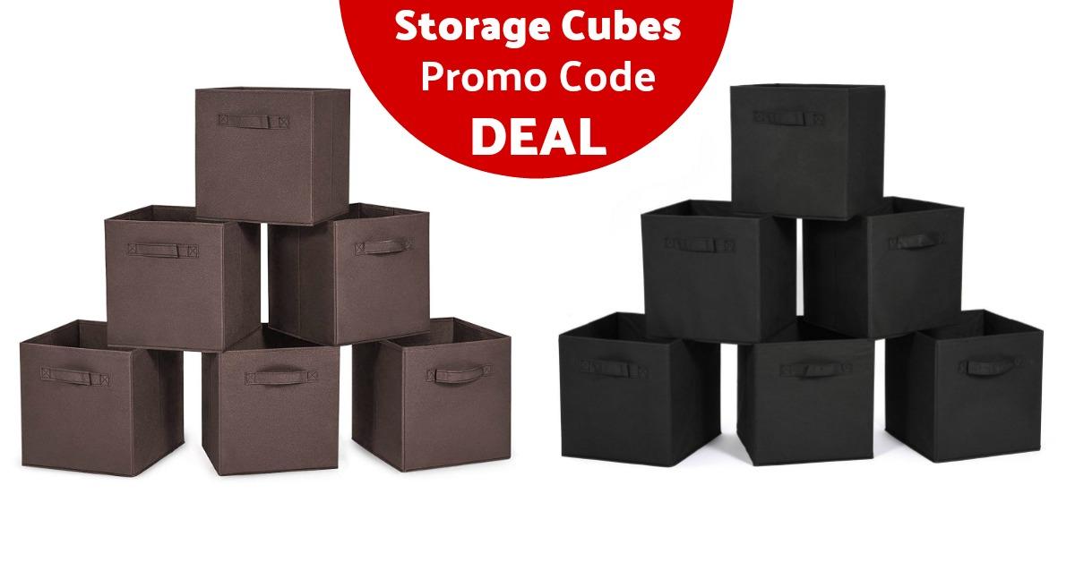 MaidMAX Cloth Storage Cubes Bins on Amazon