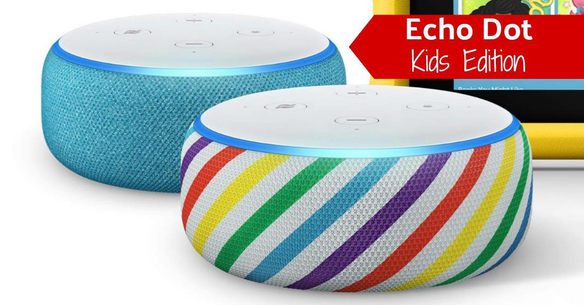 Echo Dot Kids Edition Rainbow Blue Amazon