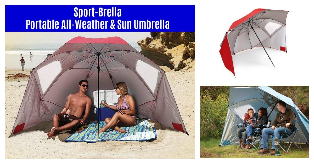 Sport-Brella Portable All-Weather and Sun Umbrella Deal! on Amazon