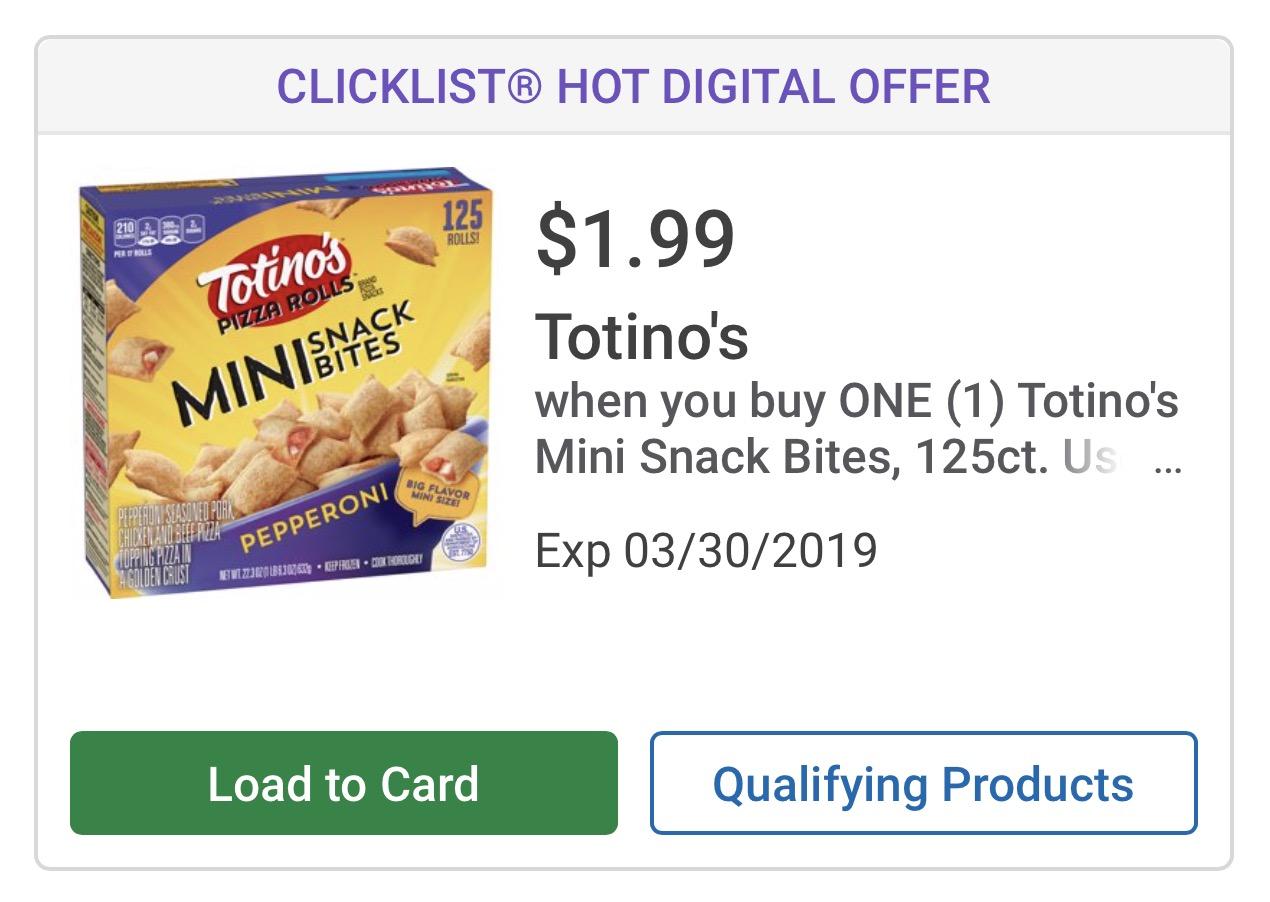 totinos coupons deal at Kroger