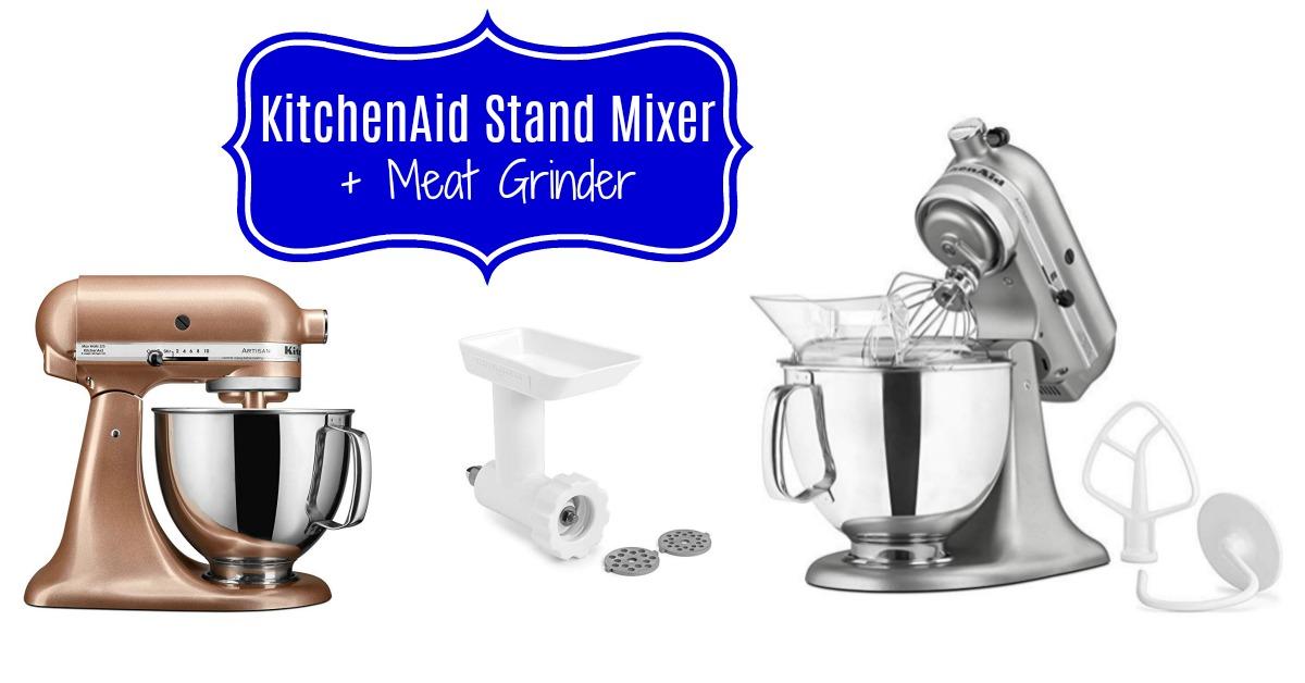 KitchenAid Stand Mixer 5 qt. + Meat Grinder on Amazon