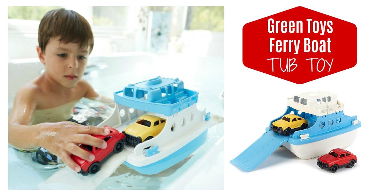 Green Toys Ferry Boat with Mini Cars Bathtub Toy on Amazon