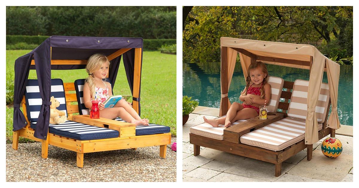 KidKraft Outdoor Double Chaise Lounge on Amazon