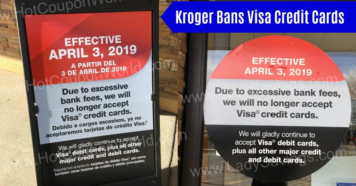 Visa Credit Cards banned at some Krogers