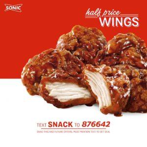Sonic deal boneless wings