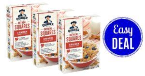 Quaker Oatmeal Squares Cereal Cinnamon on Amazon