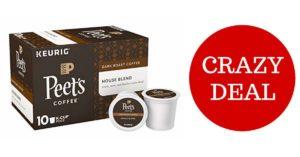 Peet's Coffee House Blend Dark Roast Coffee K-Cups on Amazon