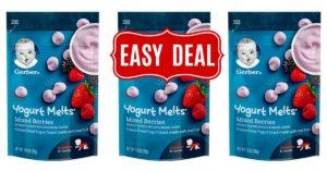 Gerber Yogurt Melts on Amazon
