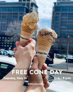 Free Cone Day at Haagen Dazs
