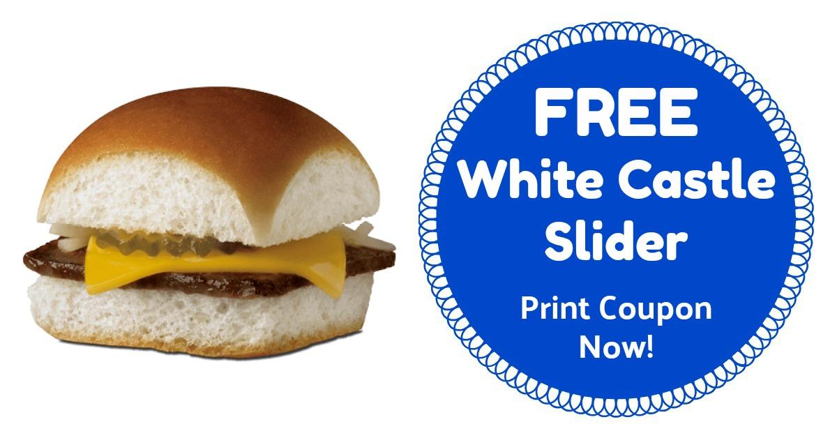 White Castle Coupon Free Slider