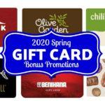 Gift Card Bonus Deals 2020