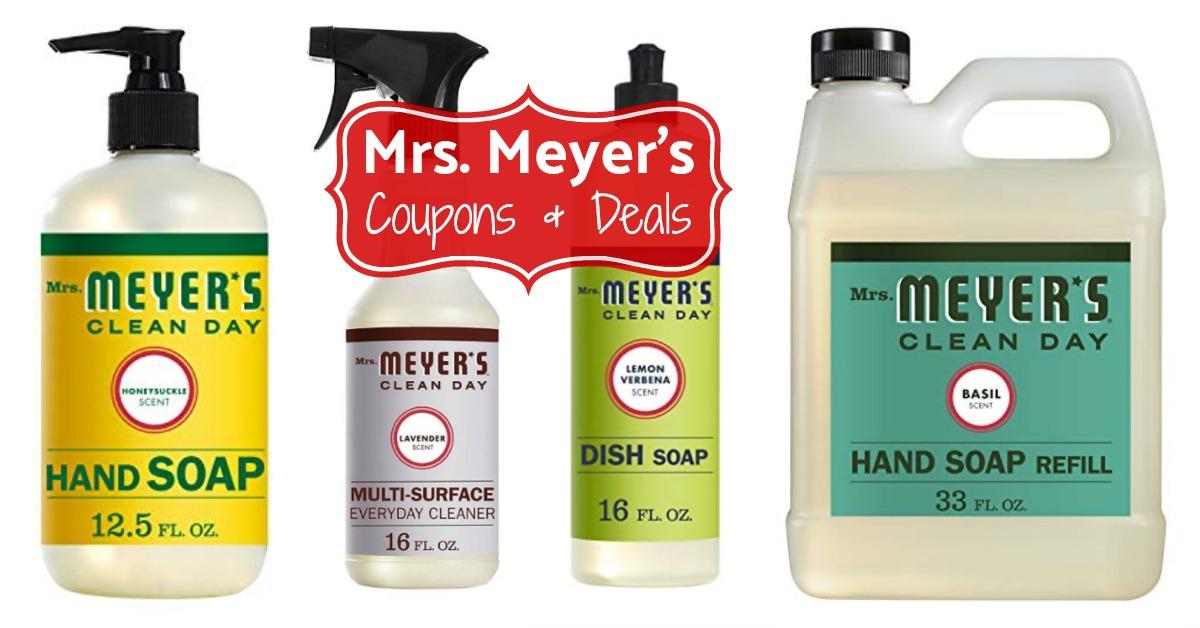 Amazon Mrs. Meyers coupons