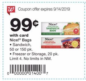 Nice Bags coupons deals at Walgreens