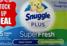 Snuggle Plus Super Fresh Fabric Softener Dryer Sheets on Amazon