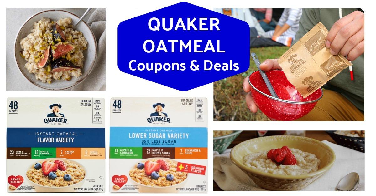 Quaker Instant Oatmeal on Amazon