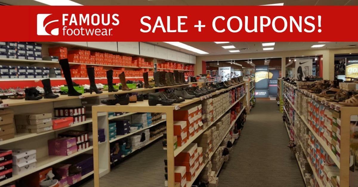 Famous Footwear Coupons + Sale (Huge
