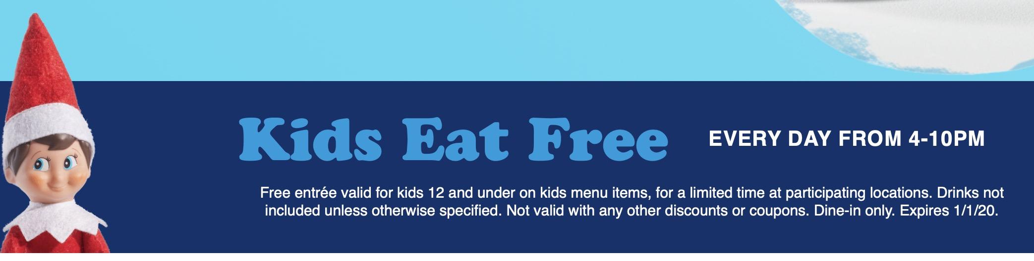 IHOP Kids Eat Free 2019 November Decemeber