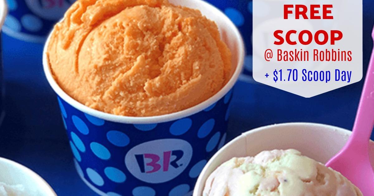 baskin robbins ice cream deals