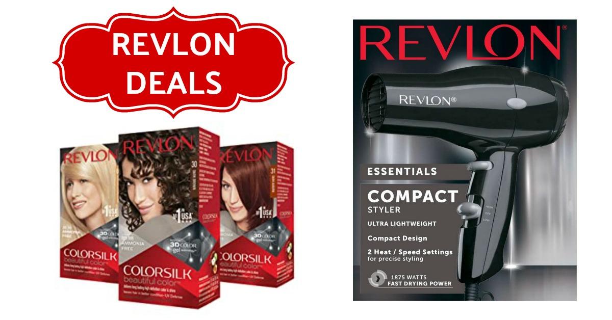 Revlon coupons deal Hair Dryer dye