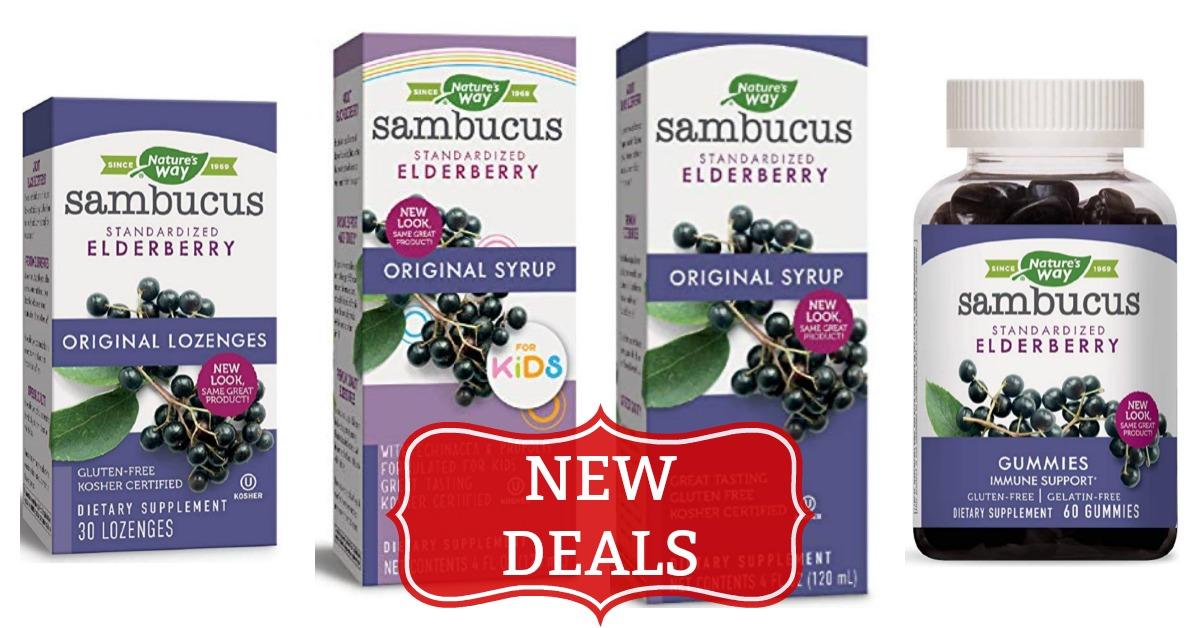 Nature's Way Sambucus Immune Elderberry Syrup Lozenges Gummies Kids