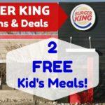 Deals at Burger King Coupons