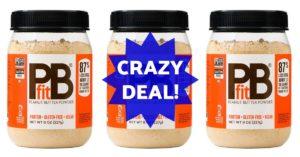 PB fit peanut butter powder on Amazon