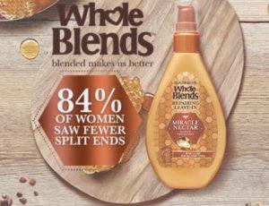 FREE Garnier Whole Blends Haircare Sample