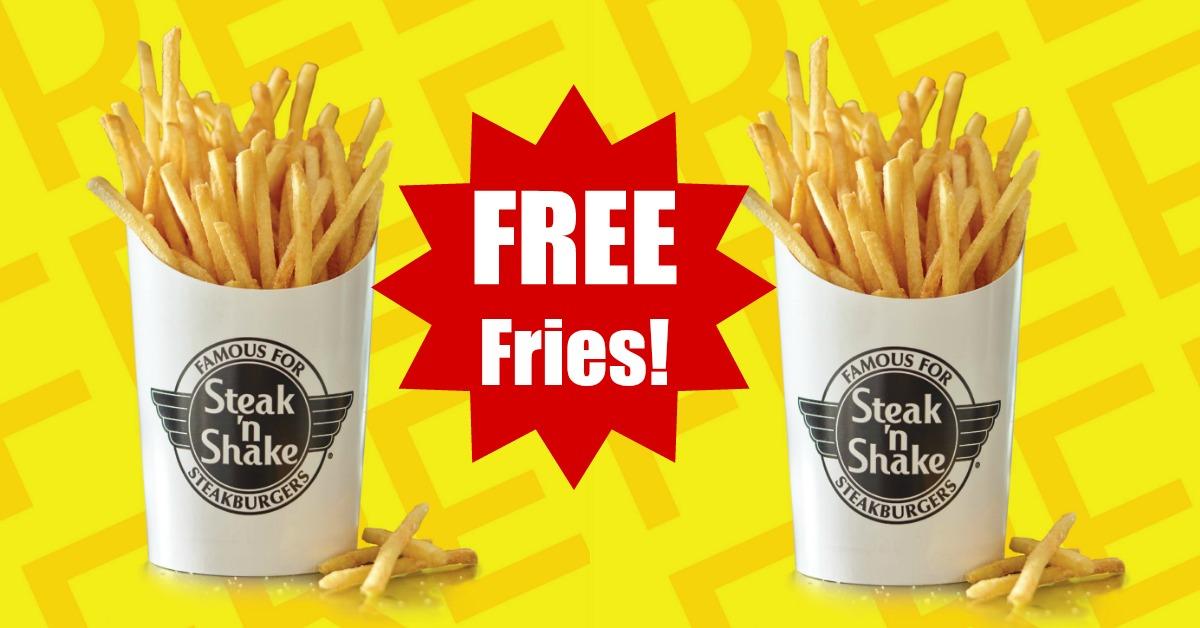 FREE Steak 'n Shake Fries