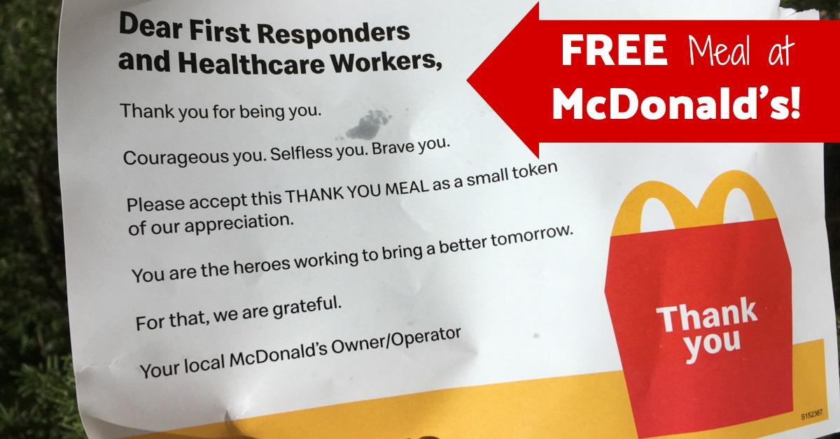 Free McDonald's Meal coupons
