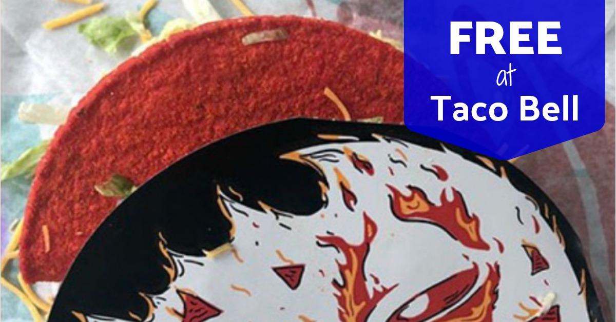 free Flamin hot doritos locos tacos at taco bell