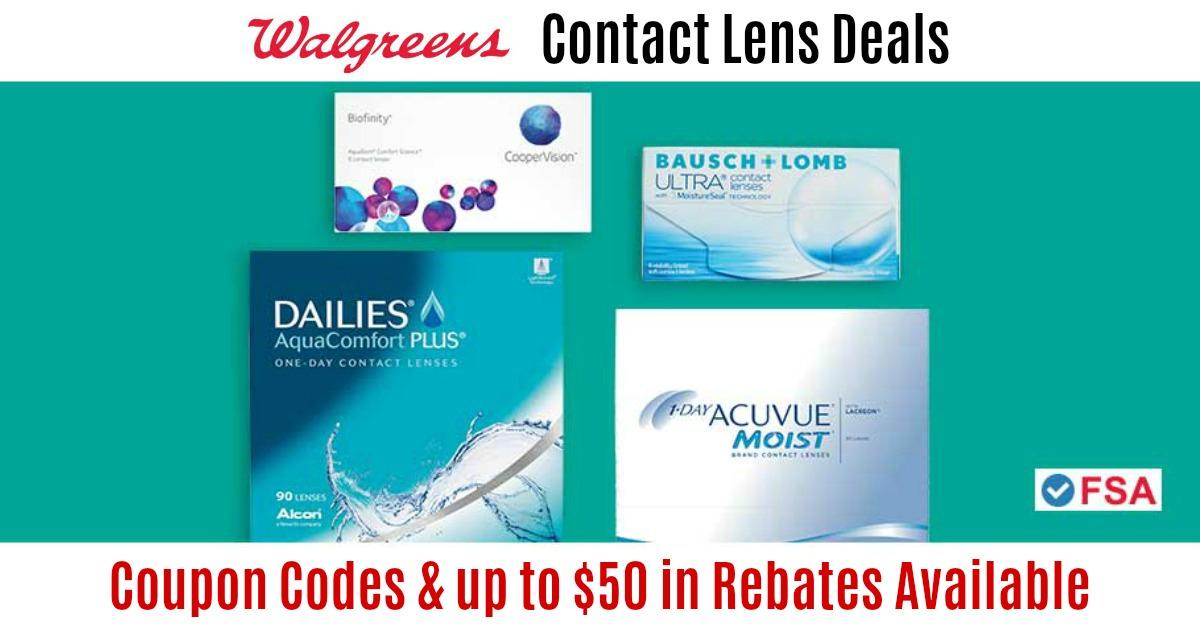 Walgreens Contact Lens Deals Coupons Rebates