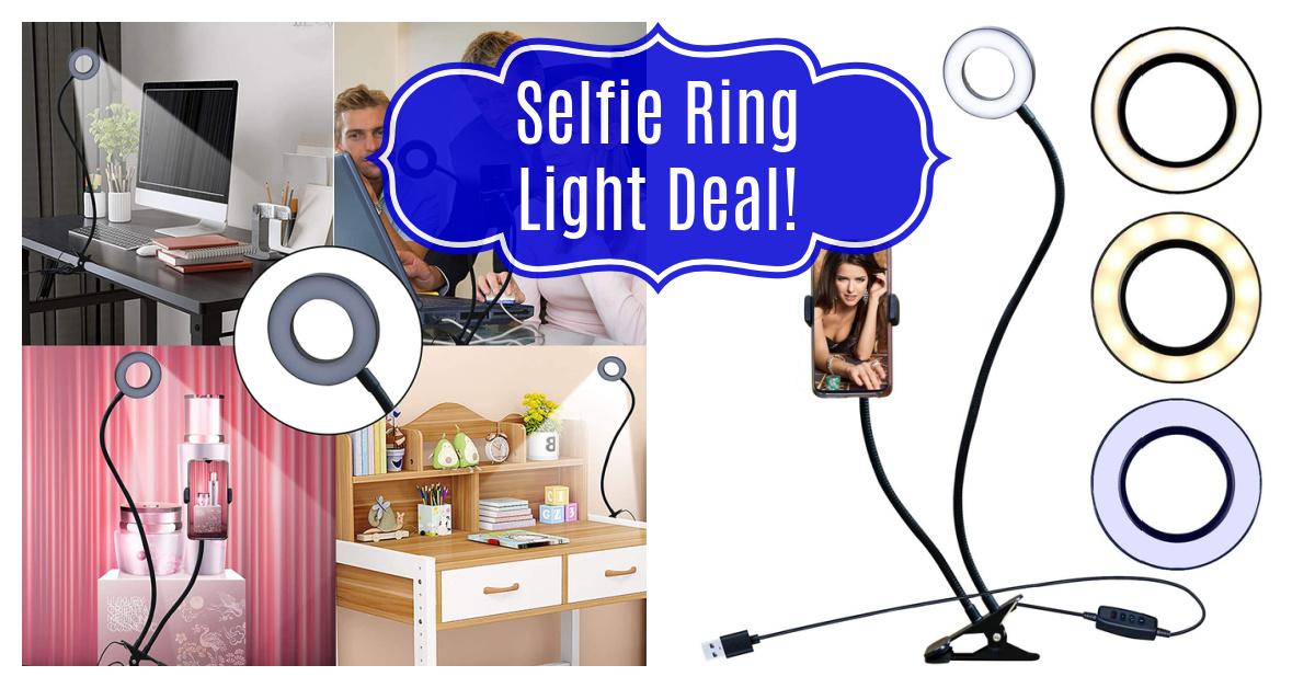 Selfie Ring Light Deal on Amazon